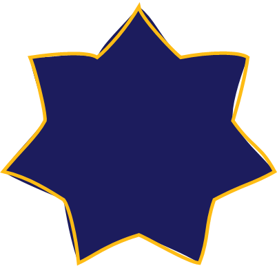 blue star with outline