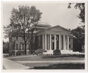 Black and white photo of Morehead Planetarium in 1950