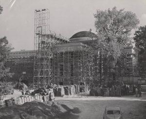 Morehead Planetarium circa 1970 during minor renovations