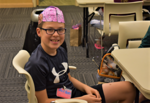 Student in 2019 GSK Science in the Summer program