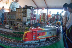 LEGO train at Morehead for LEGO-palooza 2015