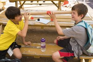 Children with kaleidescope activity