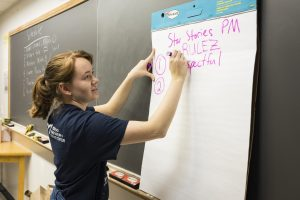 Morehead educator writing in 2019 summer camp session