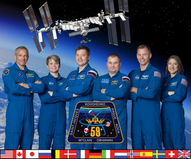 Expedition 59 crew members