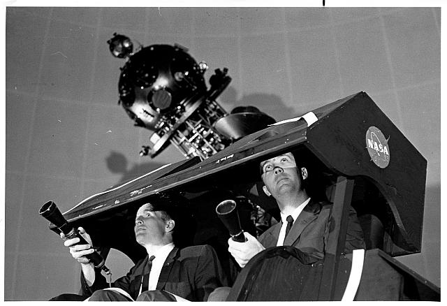 Astronauts Ed White and Jim McDivitt at Morehead Planetarium