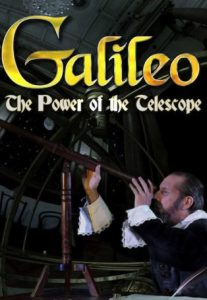 Galileo looking through a telescope