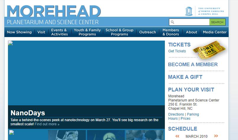 2010 Morehead homepage