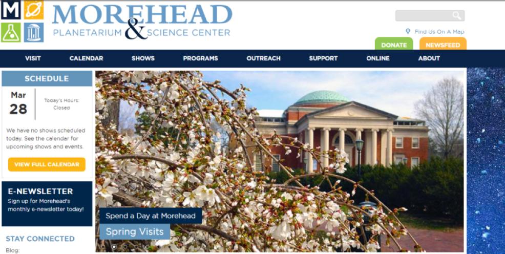 2015 Morehead homepage
