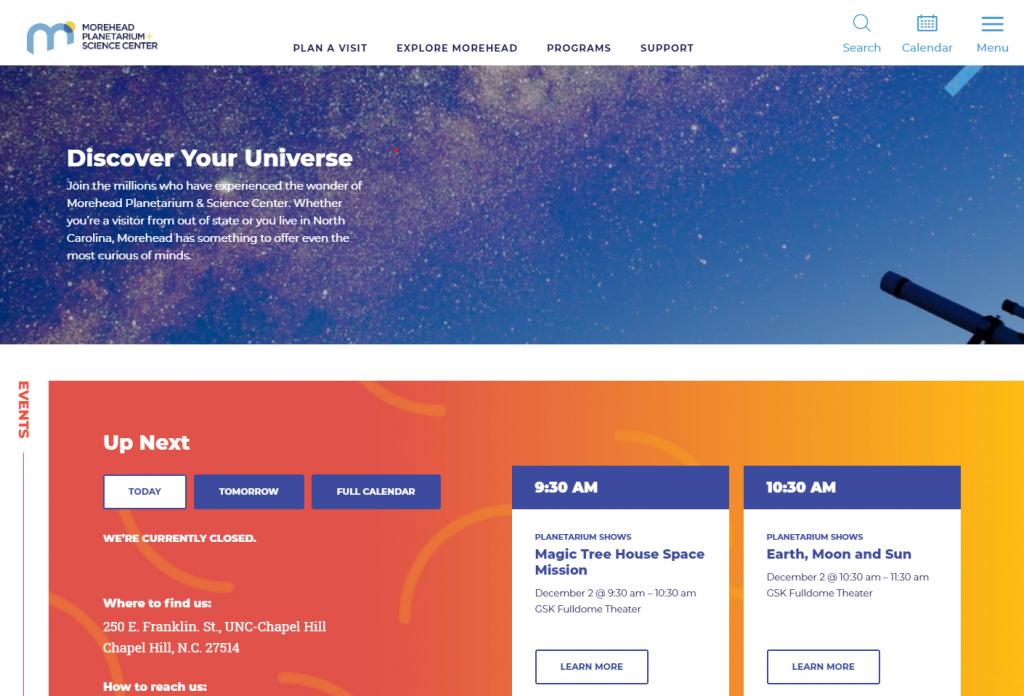 New website homepage