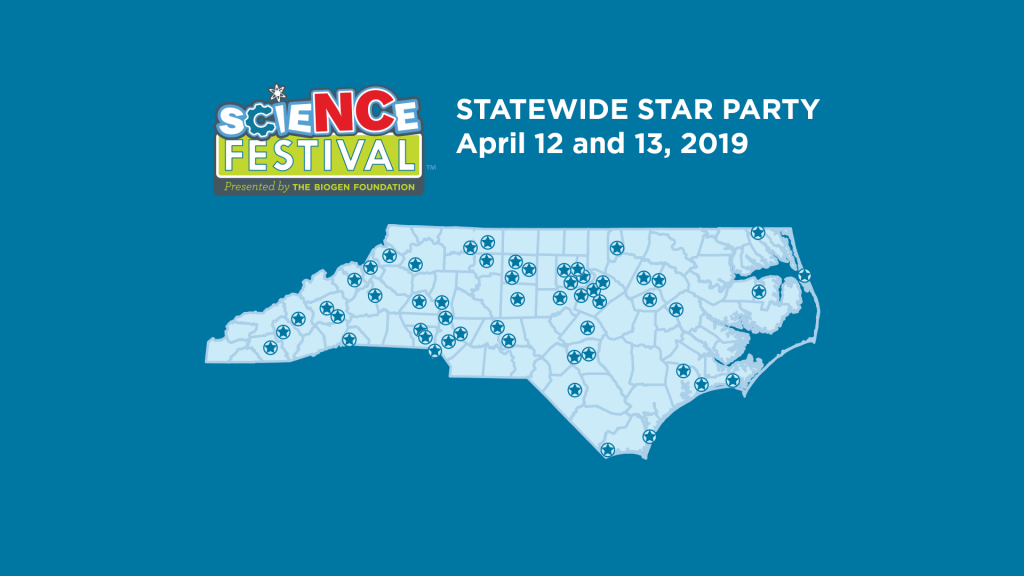 North Carolina Statewide Star Party map sites