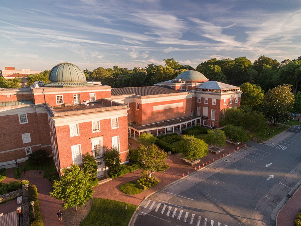 Bird's eye view of Morehead building