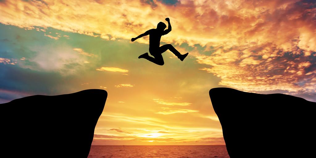 Person leap