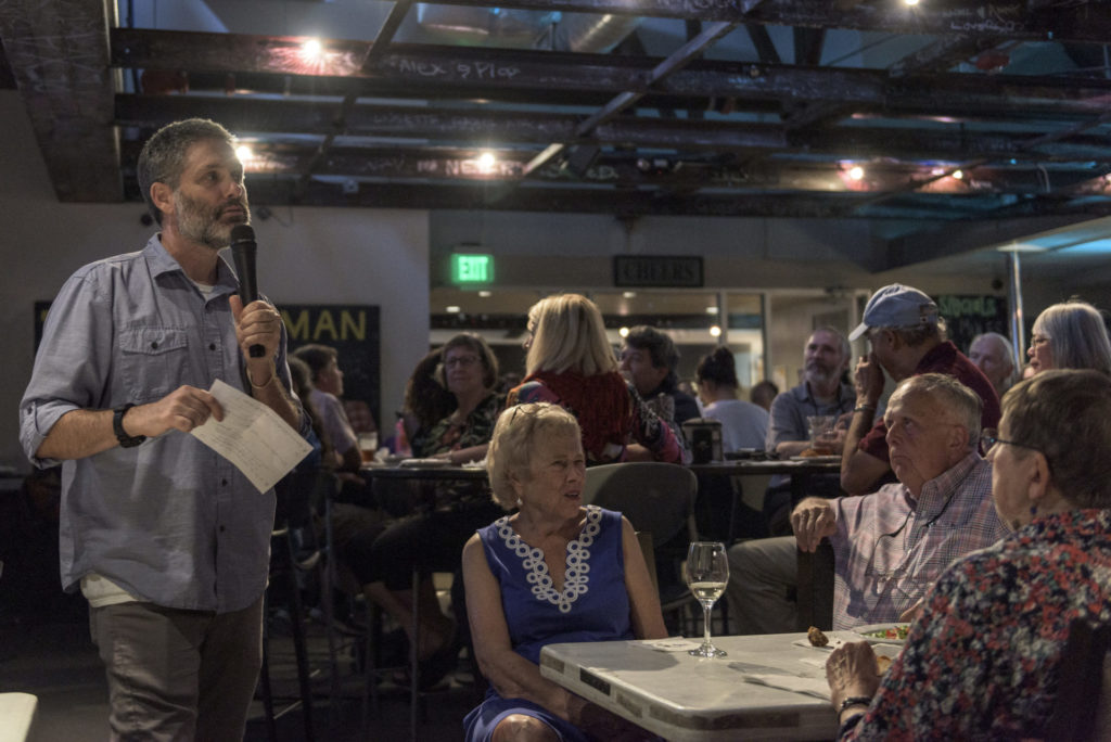 Jonathan Frederick at a 2019 Carolina Science Cafe event