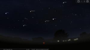 Screenshot of Stellarium (stellarium.org)