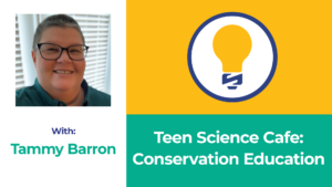 Tammy Barron title card for Teen Science Cafe