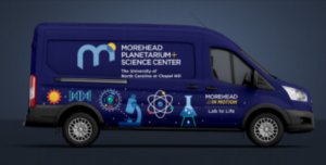 Morehead In Motion Earth and Beyond mobile lab van