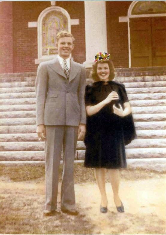 Ruby Lambert and Husband as newlyweds